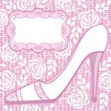 Wedding shoe. Greeting card. Royalty Free Stock Image