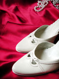 Wedding shoes. A pair of wedding shoes Royalty Free Stock Images