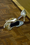 Wedding Shoes. Abandon wedding shoes she went dancing in bare feet Royalty Free Stock Photo