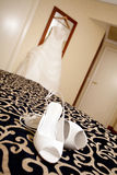 Wedding shoes. A pair of wedding shoes Royalty Free Stock Photos