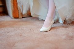 Wedding shoes Stock Photo