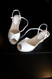 Wedding Shoes. Very Nice white wedding Shoes royalty free stock photos