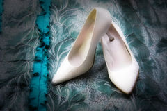 Wedding shoes royalty free stock images
