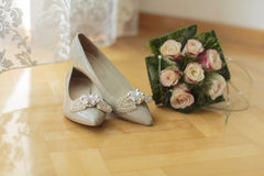 Wedding shoes Royalty Free Stock Photos