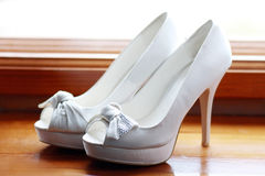 Wedding shoes Stock Images