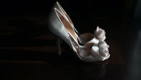 Wedding shoes. On the floor Royalty Free Stock Image