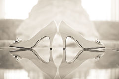 Wedding Shoes High Heels Royalty Free Stock Photos