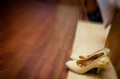 Wedding shoes. In the house Royalty Free Stock Photo