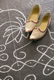 Wedding shoes of Indian groom Royalty Free Stock Photo