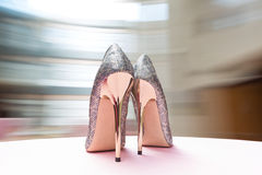 Wedding shoes. Infront of window Stock Photography