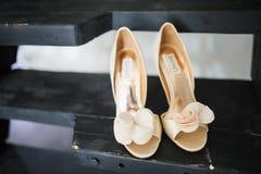 Wedding shoes Stock Photography