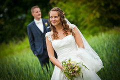 After Wedding Shooting - bride and groom - Royalty Free Stock Image