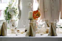 Wedding shop. Table,day light Stock Photo