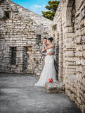 Wedding shot of bride and groom Stock Images