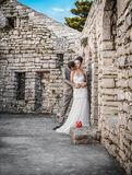 Wedding shot of bride and groom, Stock Images