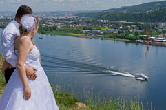 Wedding in Siberia Royalty Free Stock Photos