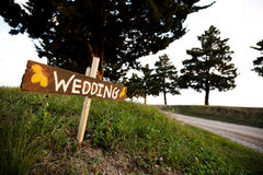 Wedding sign Royalty Free Stock Image