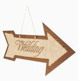 Wedding Sign Arrow Royalty Free Stock Photos
