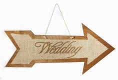 Wedding Sign Arrow Stock Image