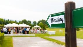 Wedding Sign Stock Photo