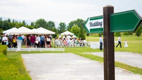 Wedding Sign Royalty Free Stock Image