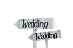 Wedding Sign Stock Photography