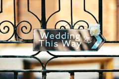Wedding sign Royalty Free Stock Images