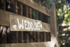 Wedding Sign Royalty Free Stock Photography