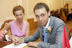 The wedding signature. Royalty Free Stock Photos