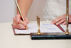 The wedding signature Stock Photography