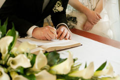 Wedding signature stock image