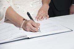 Wedding signature Royalty Free Stock Images