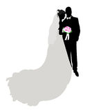 Wedding silhouette, figure Stock Photo