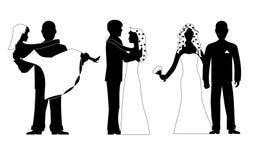 Wedding silhouette set vector Stock Photo