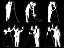 Wedding silhouettes Stock Photos