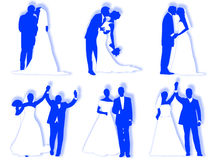 Wedding silhouettes Royalty Free Stock Image