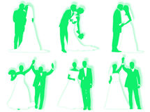 Wedding silhouettes Stock Image