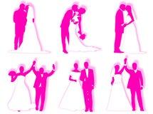 Wedding silhouettes Royalty Free Stock Photos