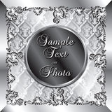 Wedding Silver Background Royalty Free Stock Photography