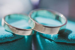 Wedding silver rings Stock Photo