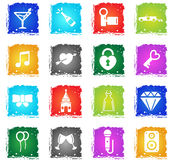 Wedding simply icons Stock Photography