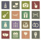 Wedding simply icons Royalty Free Stock Images