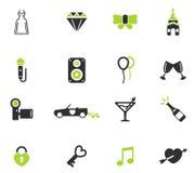 Wedding simply icons Stock Image