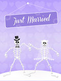 Wedding of skeletons Stock Photography