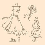 Wedding sketch. A wedding sketch, illustration royalty free illustration