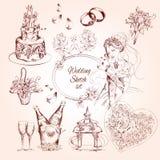 Wedding Sketch Set royalty free illustration