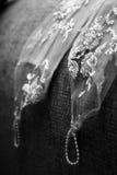 Wedding. Sleeves of a wedding dress stock image