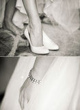 Wedding. Small details in the morning of the bride Stock Images
