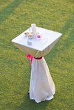 Wedding small table Royalty Free Stock Photo