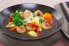 Italian Wedding Soup Meatballs Royalty Free Stock Photo